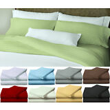 Egyptian Comfort 1800 Series Deep Pocket 4 Piece Bed Sheet Set King Queen Sizes