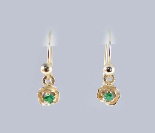 Gold Alexandrite Earrings Russian 19thC Antique Rare Natural Color-Change 14kt