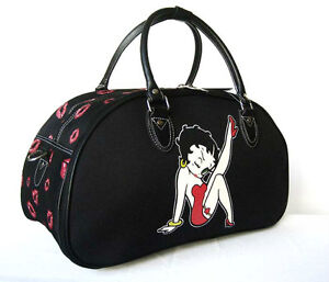 20-034-Duffel-Tote-Bag-Luggage-Purse-Travel-Red-Betty-Boop