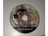Grand theft auto San Andreas gta sa playstation 2 ps2