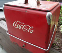 OLD VINTAGE COKE A COLA METAL COOLER 1946