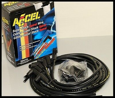 ACCEL 5000 SPARK PLUG WIRES SBC 350 383 400 406 FOR HEI & POINT 5041-K -