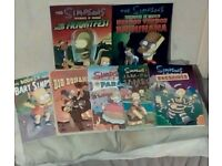 an immaculate set of simpson comics including tree house of horrors