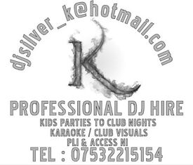 DJ wanted? Pro Club,mobile,wedding,engagement,birthday,kids party.PLI & Access NI certs .Belfast