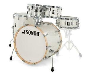 Sonor AQ2-Stage-17335 Maple White Pearl 10-12-16-22 Perle Blanc, Snare-Drum/Caisse claire 14x5.5