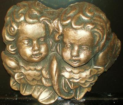 Latex Craft Mould For Cherub Plaque Reusable Art & Crafts Hobby Business