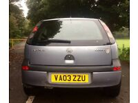 2003 VAUXHALL CORSA ELEGANCE 1.2 12 MONTHS MOT WITH 105000 MILES