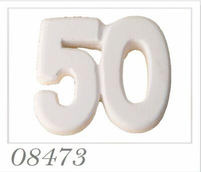 12 Piezas Tiza Número 50 Cumpleaños Boda Oro 50 Años