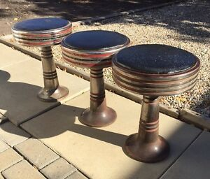 3 Soda Fountain Stools
