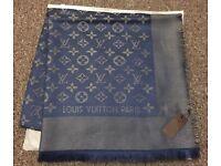 Louis Vuitton scarf shawl gold tread 140x140cm