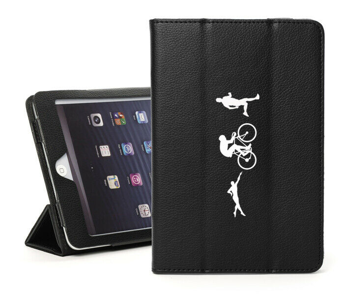 For Apple iPad Leather Smart Stand Case Iron Athlete Swim Bi