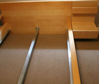 Ikea Malm Bedframe Full and Night tables