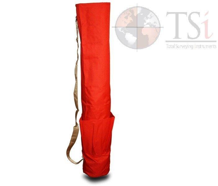 Heavy Duty 48 Inch wood Lath Stake Bag w/ Pockets Orange Seco Crain (21-200)
