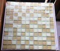1x1  Glass Mosaic / Backsplassh Cream Blend Gloss,  $2.99 Sheet