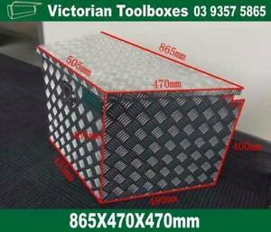 865*470*470 Aluminium Draw Bar Toolbox ute Truck