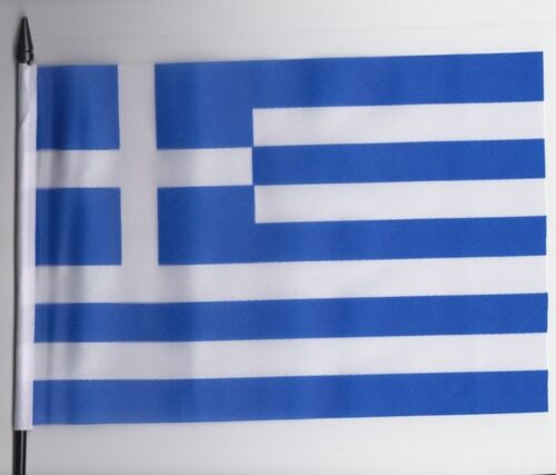 Greece Medium Hand Waving Flag