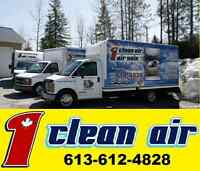 Duct Cleaning 1 Clean Air  SPECIAL 99$  613-612-4828 Call Now
