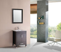 "AVA 30"" BATHROOM VANITY WHITE / ESPRESSO $429"
