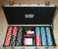 World Poker Tour Heavy Poker Chip Set (Clay) in case, 300 Chips