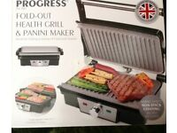 PROGRESS FOLD OUT GRILL & PANINI MAKER, KITCHEN EQUIPMENT, BBQS, PARTIES, DAY TO DAY USE