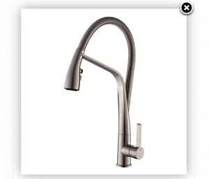 New in box brushed nickel faucet and soap dispenser