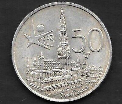 50 Francs Argent Exposition Universelle 1958 FR