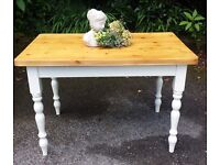 PINE SOLID FARMHOUSE TABLE IN FARROW & BALL CAN DELIVER