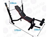 ~~~~ BRAND NEW ...BodyRip Heavy Duty Deluxe Weight Bench With Weight Rack~~~~ (rrp £139)
