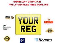 Number plates free postage or pick up bike 9x7