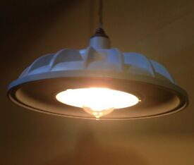 Vintage/recycled, industrial pendant light