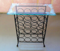 Pretty Wine Table/Rack - holds 20 bottles