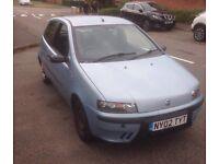 Fiat Punto. Good mot left. Decent tyres