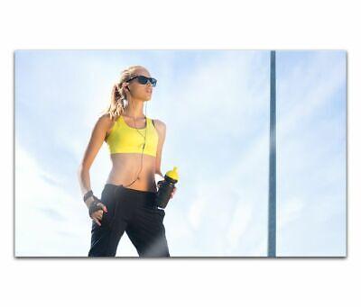 Cuadros de Cristal Acrílico 80cm Mujer Inlineskatenacrylbild Pared Imagen