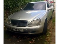 Mercedes S class non runner/ spares or repairs