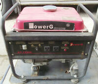 POWER G GAS GENERATOR 1200 W GT1200C $80.00
