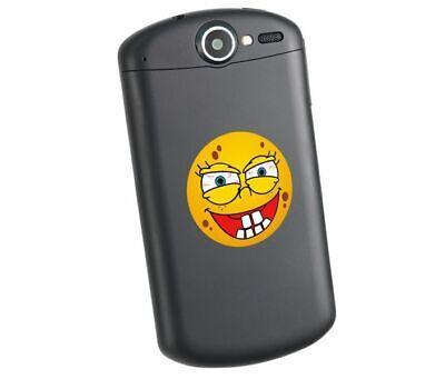 Smilie Emoji bunter Handy Aufkleber das böse lacht Gesicht lustig Sticker