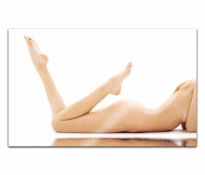 Cuadros de Cristal Acrílico 80cm Mujer Sexy Erótico Pose Pintura Pared 14H730