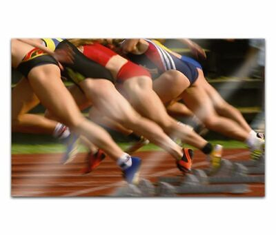 Cuadros de Cristal Acrílico 80cm Sprinter Mujeres Pintura Pared Imagen 14H2214
