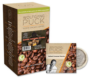 Wolfgang Puck Salted Caramel Mocha Coffee Pods Quantity 18