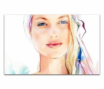 Cuadros de Cristal Acrílico 80cm Cara Mujer Bonito Pintura Pared Imagen 14H1491