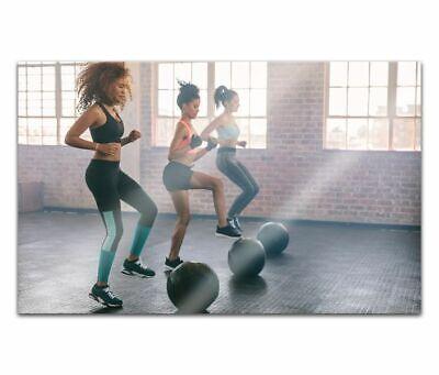 Cuadros de Cristal Acrílico 80cm Mujeres Bola Trainingacrylbild Pared 14H1450