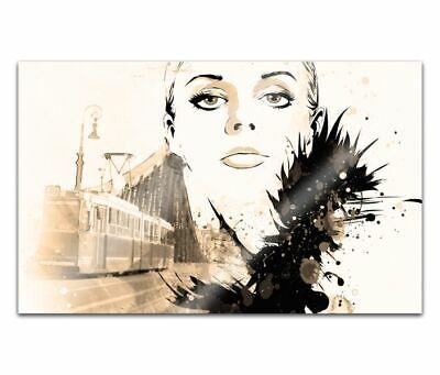 Cuadros de Cristal Acrílico 80cm Cara Mujer Pintura Pared Imagen 14H1495