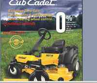 2015 CUB CADET ZERO TURN riding lawn tractors
