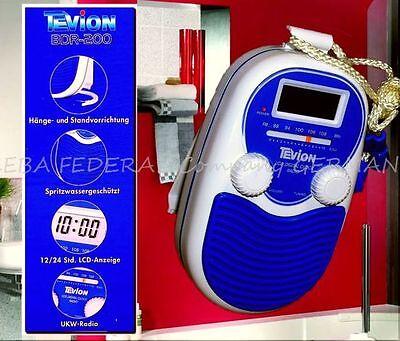 Tevion Radiowecker BDR 200 Badradio ALARM LCD Wandradio Duschradio Blau Weis Lux online kaufen