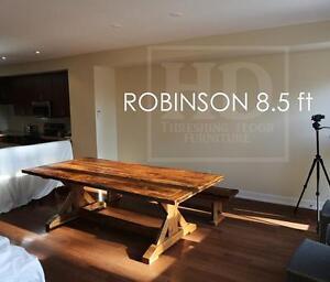 Reclaimed Wood Sawbuck Tables