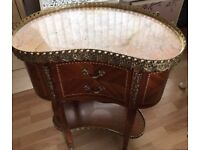 French Louis XVI antique bedside table