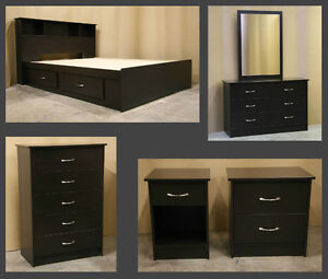 King Size Espresso Bedroom Set