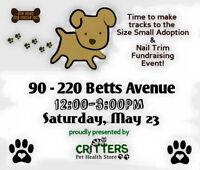 Size Small Dog Rescue Adoption Event & Nail Trims