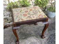 Antique Tapestry Piano Stool