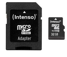Intenso 32GB Micro SDHC Class 10 Speicherkarte inkl. SDHC Card Adapter